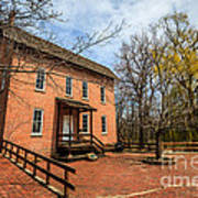 Northwest Indiana Grist Mill Print by Paul Velgos
