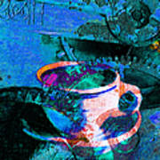 Nothing Like A Hot Cuppa Joe In The Morning To Get The Old Wheels Turning 20130718p168 Print by Wingsdomain Art and Photography