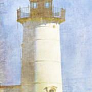 Nubble Lighthouse Print by Carol Leigh