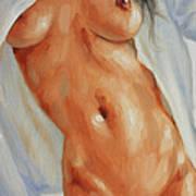 Nude In Shirt II Print by John Silver