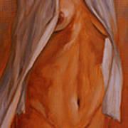 Nude In Shirt IIi Print by John Silver