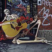 Nyc Skeleton Player Print by Gary Kroman