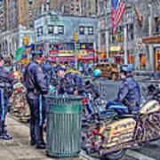 Nypd Highway Patrol Print by Ron Shoshani
