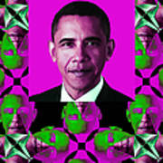 Obama Abstract Window 20130202verticalm60 Print by Wingsdomain Art and Photography