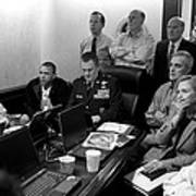 Obama In White House Situation Room Print by War Is Hell Store