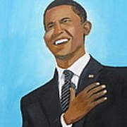 Obama's First Inauguration Print by Artistic Indian Nurse
