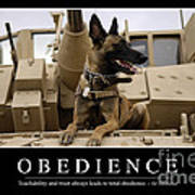 Obedience Inspirational Quote Print by Stocktrek Images