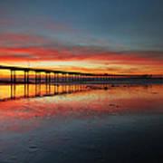 Ocean Beach California Pier 3 Print by Larry Marshall