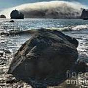 Ocean Boulder Print by Adam Jewell