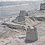 Ocean Sandcastles Print by Betsy C Knapp