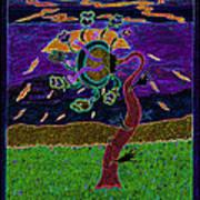 Ocean Side Flower At Sun Set    V3 Print by Kenneth James