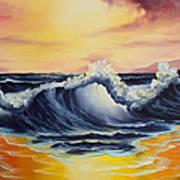 Ocean Sunset Print by C Steele