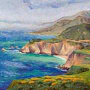 Ode To Big Sur Print by Karin  Leonard