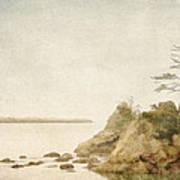 Offshore Rocks Oregon Coast Print by Carol Leigh