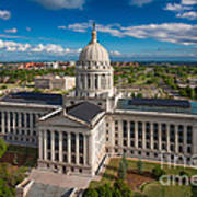 Oklahoma City State Capitol Building C Print by Cooper Ross