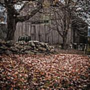 Old Barn In Autumn Print by Edward Fielding