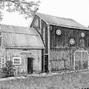 Old Barn Print by Sarah Batalka