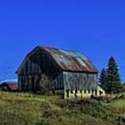 Old Broken Down Barn In Ohio Print by Dan Sproul