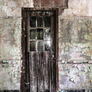 Old Door - Abandoned Building - Tea Print by Gary Heller