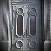 Old Doorway Quebec City Print by Edward Fielding