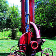 Old Farm Machinery Print by Tina M Wenger