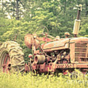 Old Farmall Tractor At Sunrise Print by Edward Fielding
