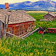 Old Homestead Near Townsend Montana Print by Michael Pickett