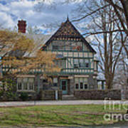 Old House On Haverford Campus Print by Kay Pickens