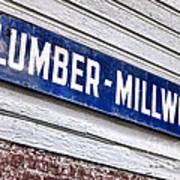 Old Lumberyard Sign Print by Olivier Le Queinec