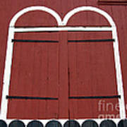 Old Red Kutztown Barn Doors Print by Anna Lisa Yoder