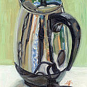 Old Reliable Stainless Steel Coffee Perker Print by Jennie Traill Schaeffer