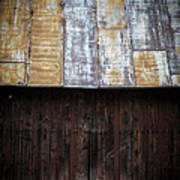 Old Rusty Tin Roof Barn Print by Edward Fielding