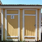 Old Sacramento California Schoolhouse Outhouse 5d25549 Print by Wingsdomain Art and Photography