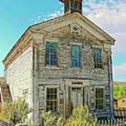Old School House Bannack Ghost Town Montana Print by Jennie Marie Schell
