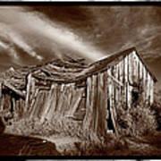 Old Shack Bodie Ghost Town Print by Steve Gadomski