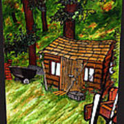 Old Shed Shed Print by Ryan Lee