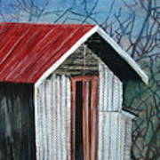 Old Shed Print by Shirley Shepherd