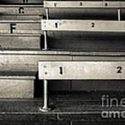 Old Stadium Bleachers Print by Diane Diederich