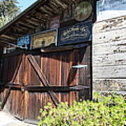 Old Storage Shed At The Swiss Hotel Sonoma California 5d24459 Print by Wingsdomain Art and Photography