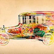 Old Volkswagen3 Print by Mark Ashkenazi
