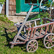 Old Wagon Print by Guy Whiteley