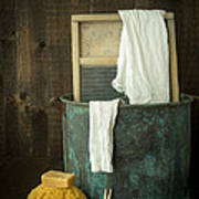 Old Washboard Laundry Days Print by Edward Fielding