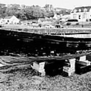 Old Wooden Fishing Boat In Portpatrick Harbour Scotland Uk Print by Joe Fox