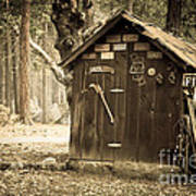 Old Wooden Shed Yosemite Print by Jane Rix