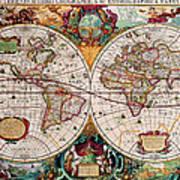 Old World Map Print by Csongor Licskai