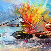 Olympics Canoe Slalom 05 Print by Miki De Goodaboom
