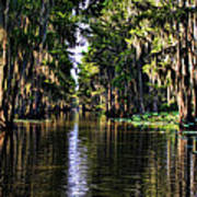On Golden Canal Print by Lana Trussell