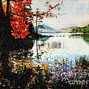 On Jordan Pond Print by Lianne Schneider