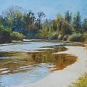 On The River Print by Nancy Stutes