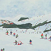 On The Slopes Print by Judy Joel